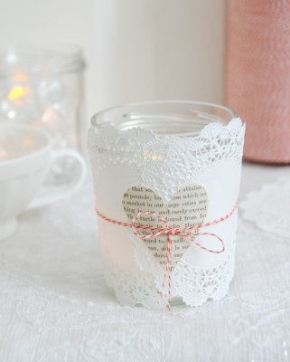 valentine's day candle...