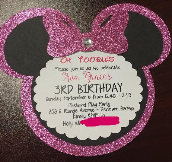 Invitaciones de Minnie Mouse por 5LittleMooneys en Etsy