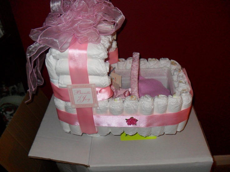 How To Make Baby Shower Cakes Out Of Diapers