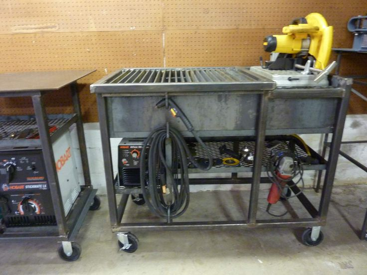 Jim Aderhold's Welding and Metalworking Hobby: Chop Saw & Cutting Grate Table