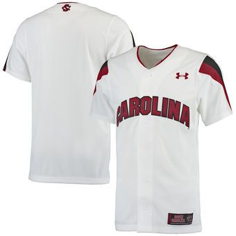 South Carolina Gamecocks Under Armour Replica Baseball Jersey - White