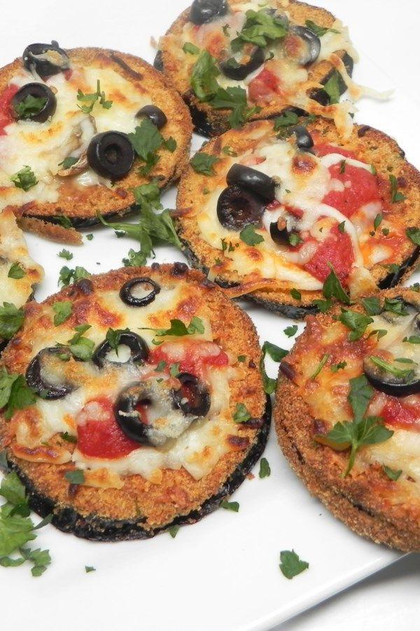 Air Fryer Eggplant Parmesan Mini Pizzas Recipe (With