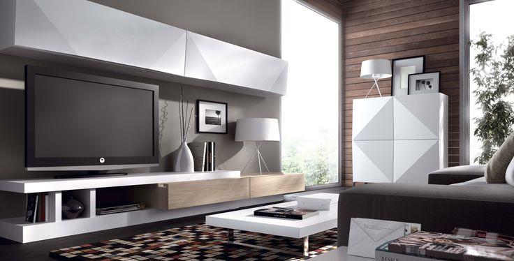 Comedormoderno detalles piramidal en las puertas for Mueble salon minimalista