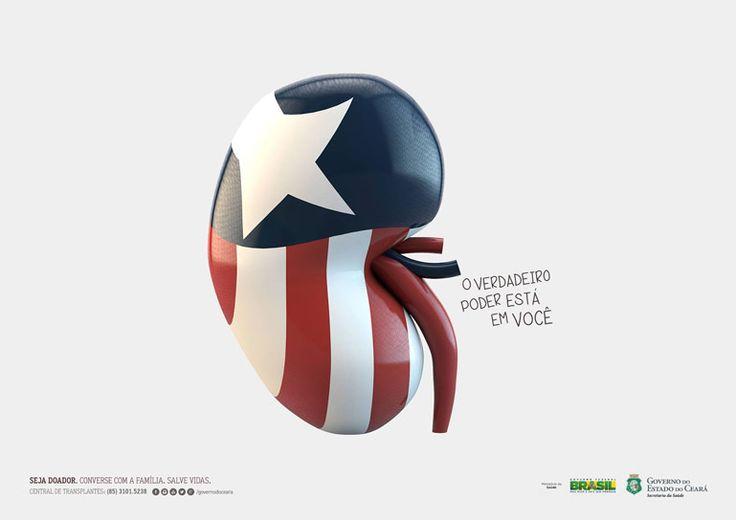 Órgão vitais vestidos de heróis são o destaque da nova campanha cearense da Semana Global de Doação de Órgãos.