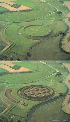 Trelleborg Viking fortress excavation, Denmark.