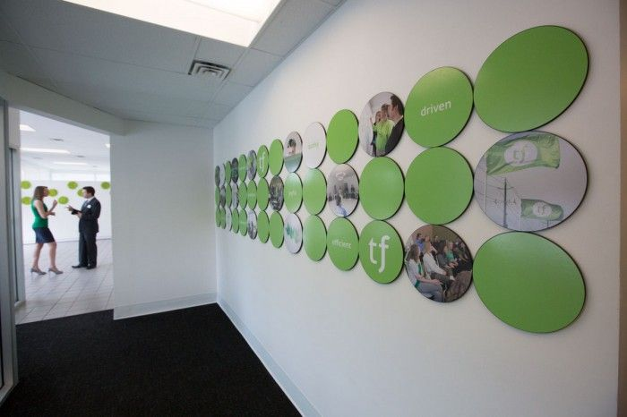 Circles are our thing... Some wall artwork @ Treefrogs New Newmarket Offices