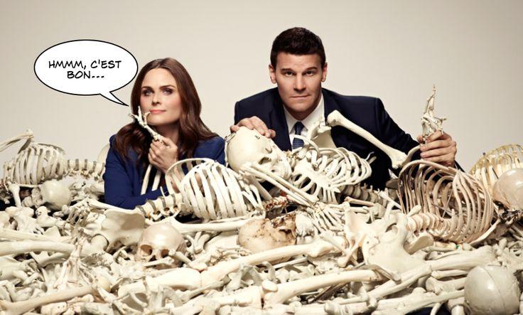 "Temperance Brennan et Seeley Joseph Booth de ""Bones"" ont l'habitude de tomber sur un os."
