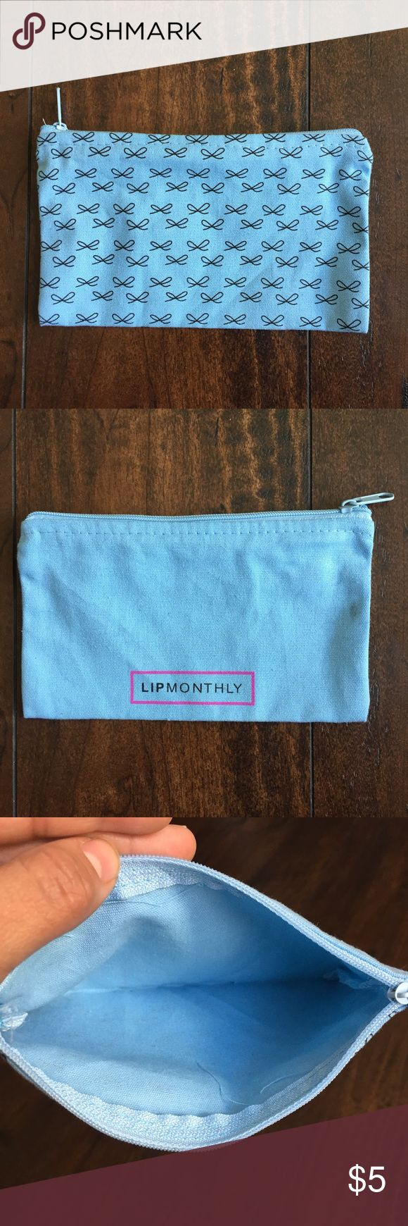 🆕NWOT Blue lipstick bag 🆕NWOT  New without tags  Cute bow details  Sky blue color  Never used  Excellent condition Other makeup bags available in my closet, bundle for a better deal! ✅Make an offer ✅Bundle and save  🛍Happy Shopping! Bags Cosmetic Bags & Cases