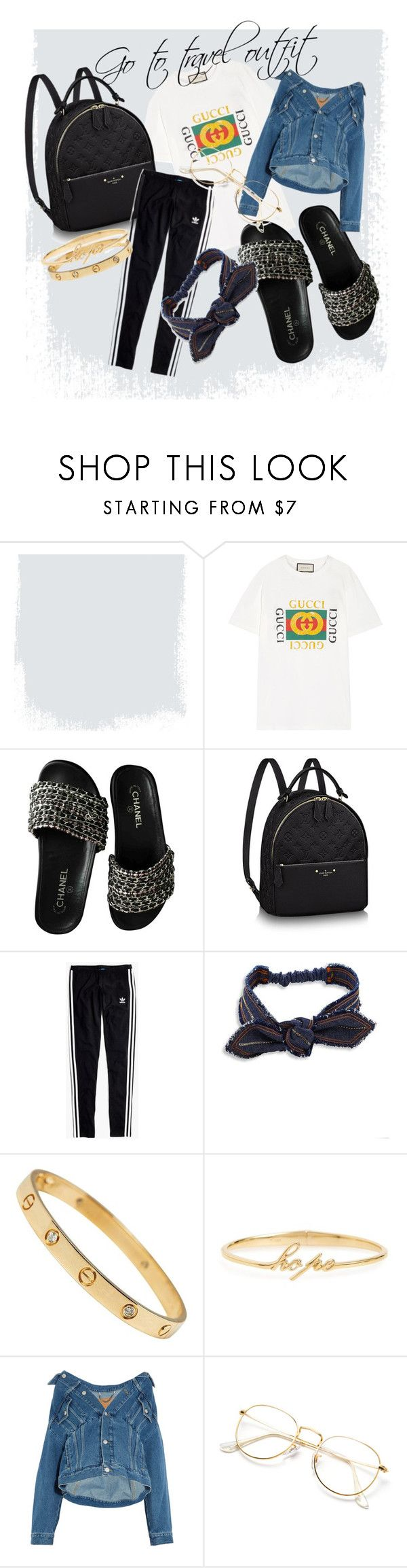 """Go to travel"" by janet241124 ❤ liked on Polyvore featuring Gucci, Chanel, Madewell, Colette Malouf, Judith Jack and Balenciaga"