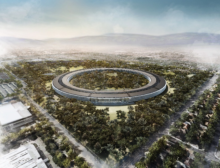 Apple's New Spaceship Headquarters might be my inspiration for the offices of Triad Corporation.