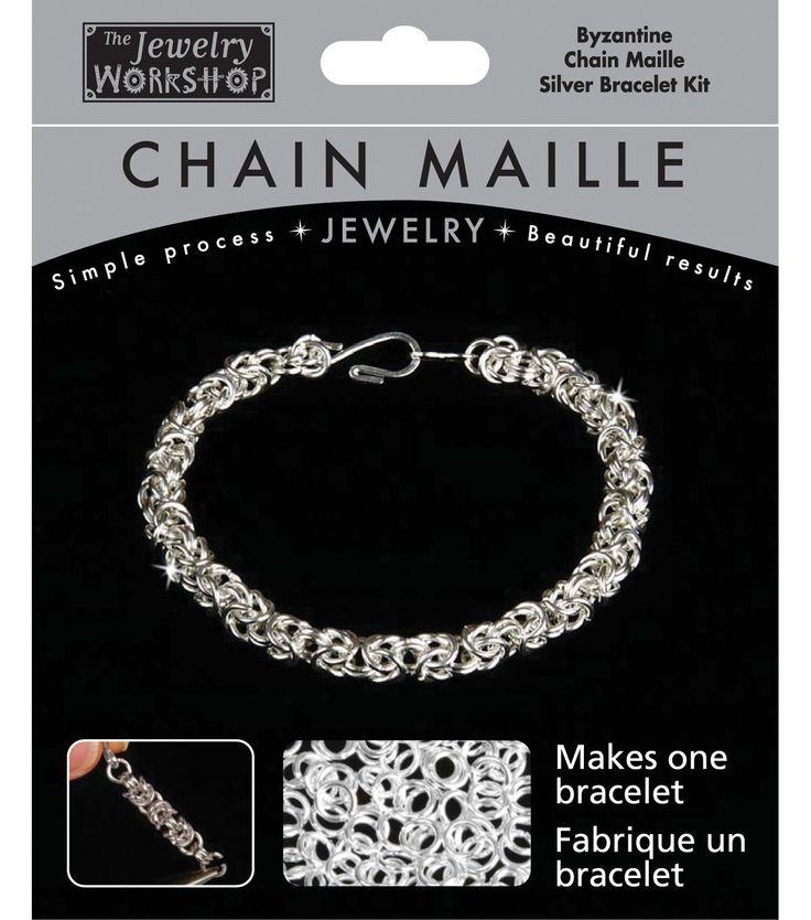 The Jewelry Workshop Chain Maille Jewelry Kit-Byzantine Bracelet-Silver