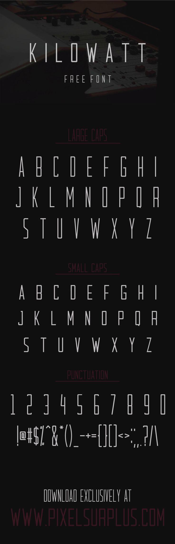 Kilowatt - Free Condensed Sans Serif Font