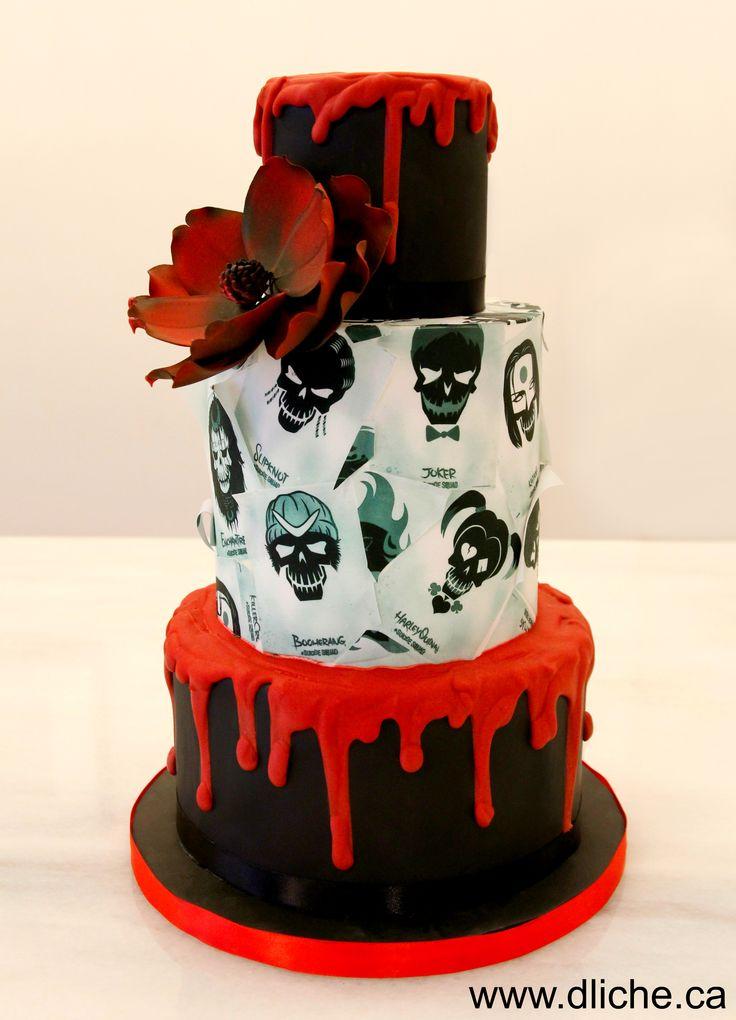 """Un gâteau thématique """"Suicide Squad""""! A Suicide Squad cake for the fans!!"""