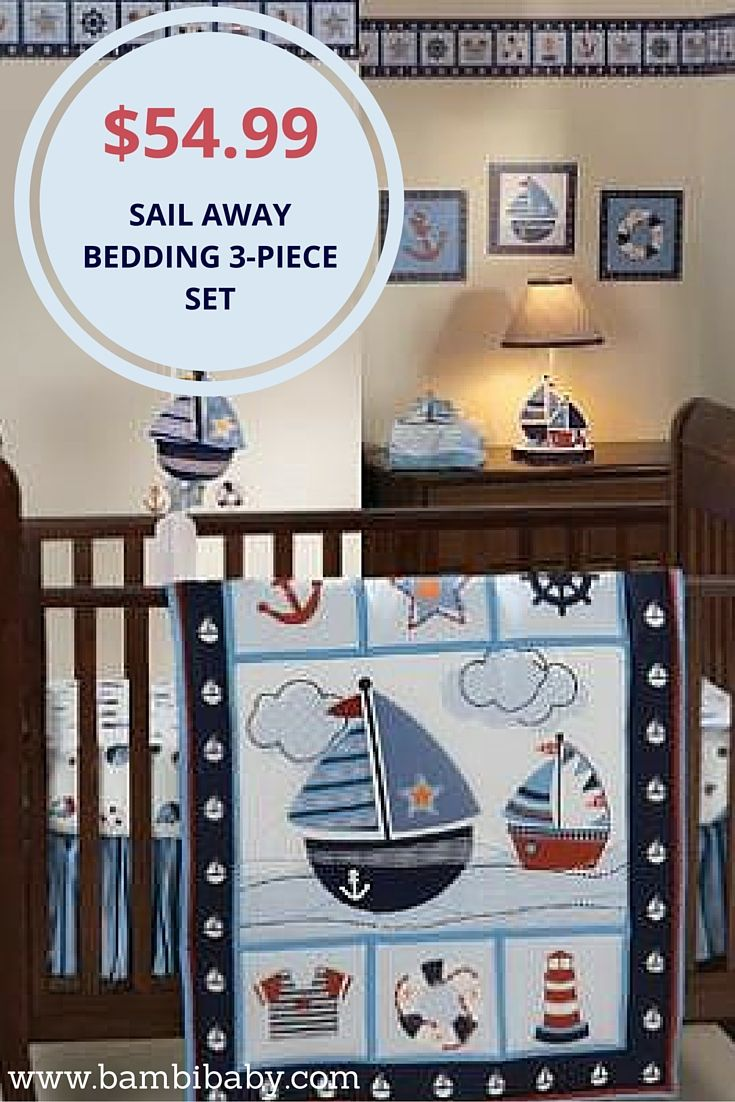 Jameson panel crib for sale - Special Sale On Sail Away 3 Piece Bedding Set Perfect For A Nautical Nursery