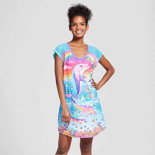 Lisa Frank | Target | pajamas | 90s kid | throwback | Women's Lisa Frank Sleep Shirt | sleep shirt | nostalgia