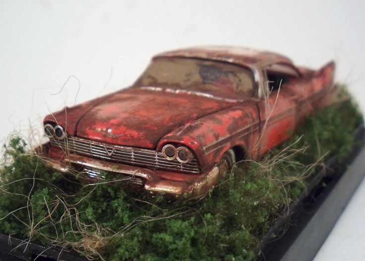 1958 Plymouth Belvedere Custom Weathered Barn Find Unrestored 1 64 Diorama M2 CastlineM2MachinesAutoThentics