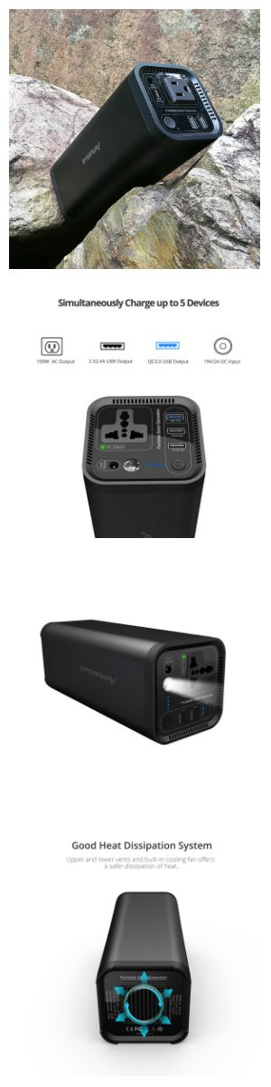 Is this product right for you? #solarphonecharger  #ACscoketPowerPack #OutdoorPowerSource  iForway Solar Power Generator--A perfect alternative power source for those living in an apartment or who don't want to deal with the noise, fumes, maintenance, and overall hassle of a inverter generator.