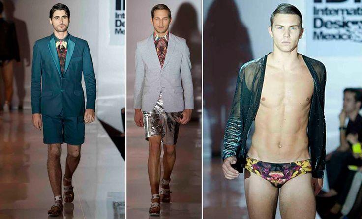 Pantalones cortos para hombres y color plata, las propuestas más arriesgadas de Olmos y Flores en el IDM