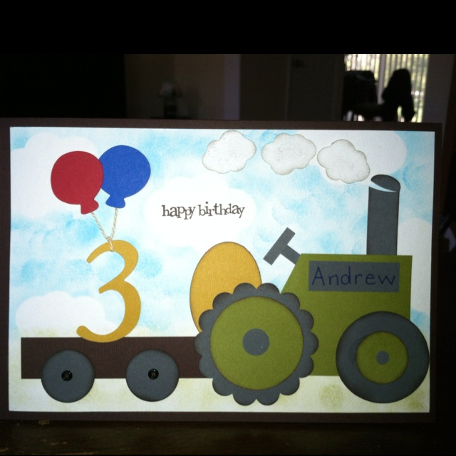 Tractor Card made using my Cricut and Stampin'Up products - bjl