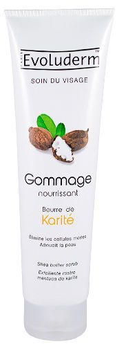 lot 3 gommage soin visage beurre de karite evoluderm  150 ml neuf