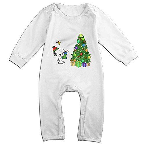 Ellem Cute Merry Christmas Snoopy Climbing Clothes Toddler White Size 24 Months