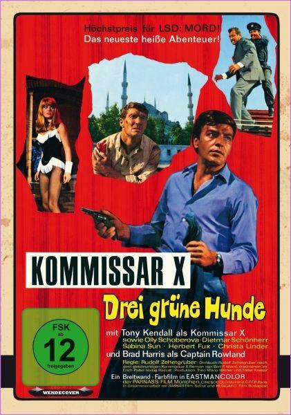 Kommissar X - Drei grüne Hunde (1967) Stars: Tony Kendall, Brad Harris, Olga Schoberová, Christa Linder, Dietmar Schönherr,  Directors: Rudolf Zehetgruber, Gianfranco Parolini