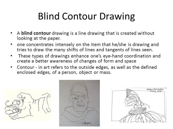 Image result for blind contour drawing worksheet