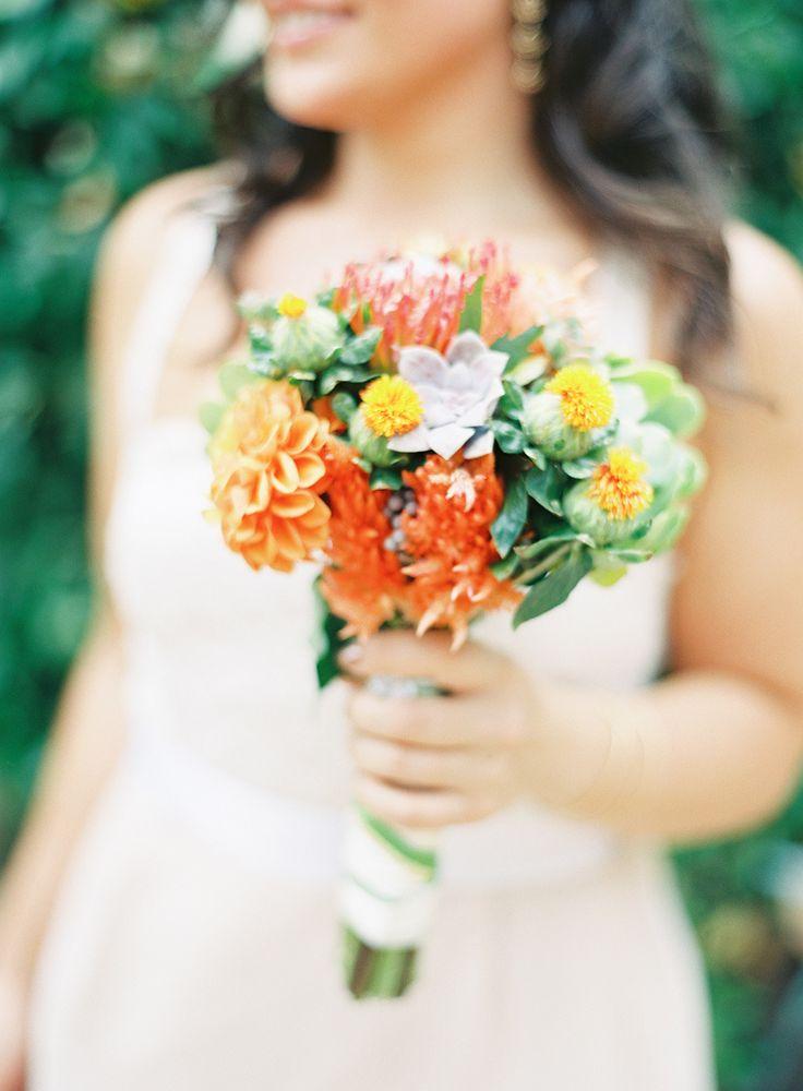 Fall san diego wedding at rancho buena vista adobe for Simple fall bridesmaid bouquets