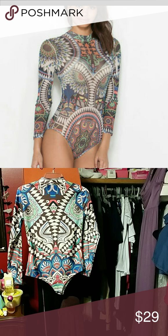 Aztec body suit Beautiful colorful aztec body suit NEVER WORN.  No tags but new! Other
