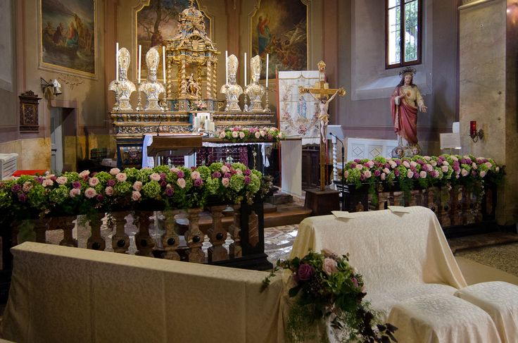 Fiori per matrimonio in chiesa sull'Isola Pescatori