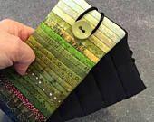 Gesteppte Glaskasten. Weichen Fall. Brillenetui. Moderne Tasche für Lesebrille. Mini Handy-Tasche. Geschenk für Quilt-Hersteller. Grünes Gehäuse.