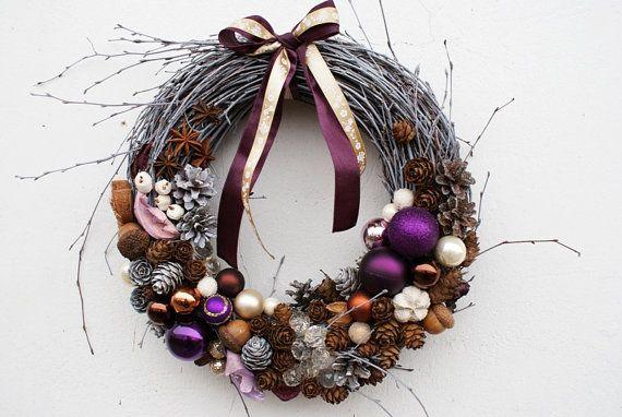 Christmas ornament wreath Holiday Christmas Wreath by mamwene