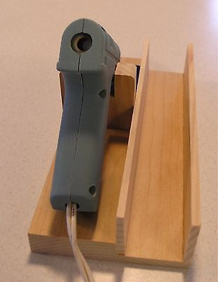 HOT GLUE GUN HOLDER & Stand, with Glass Tile & Right Side Storage Space