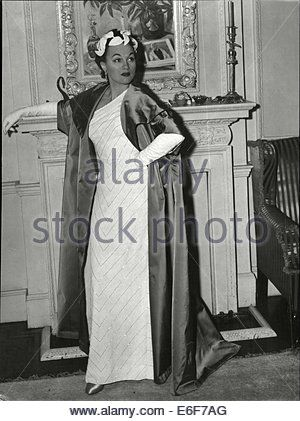 Actress Adina Mandlova Wearing A White Evening - Stock Photo