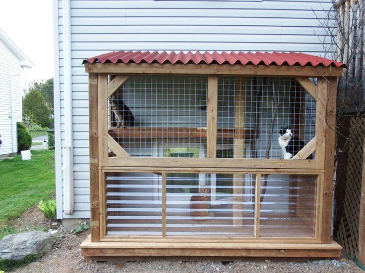 Our Diy Catio Cat Outdoor Living Outdoor Cat Enclosure