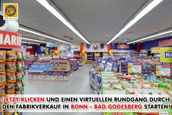 Haribo Factory store. Virtuelle Tour Store Bad Godesberg