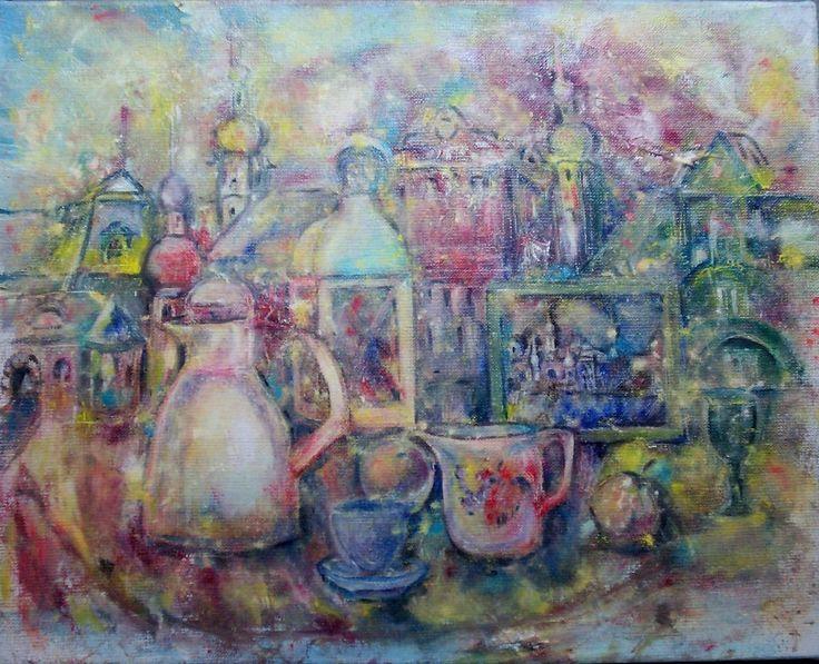 город - Изобразительное искусство - Масло, акрил