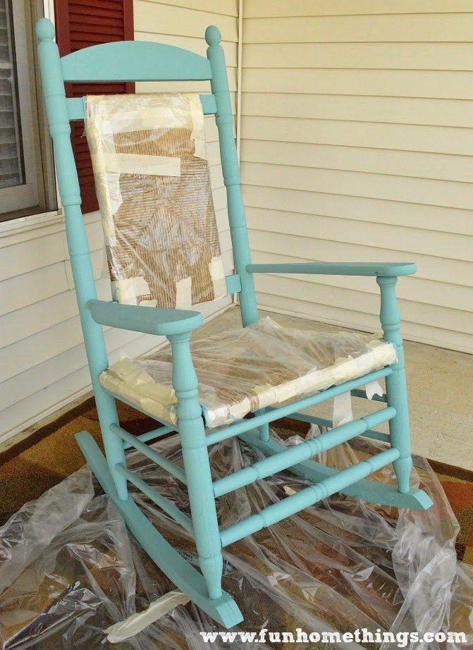 Annie Sloan Chalk Paint Rocking Chair Makeover   Fun Home Things