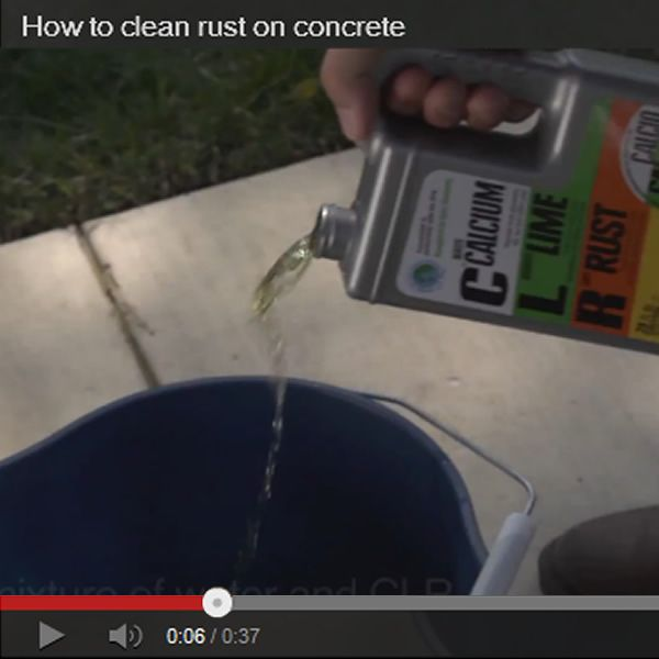 How to clean rust on concrete