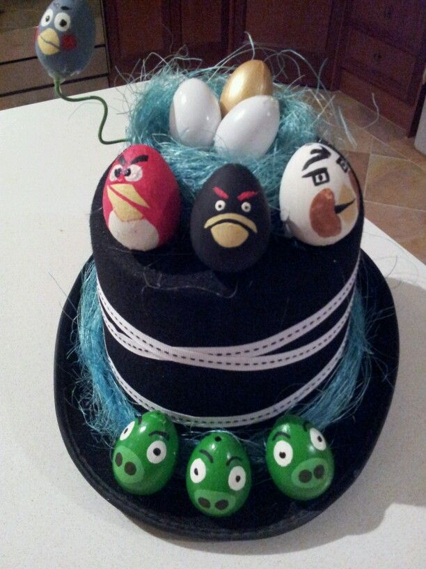Angry birds Easter hat