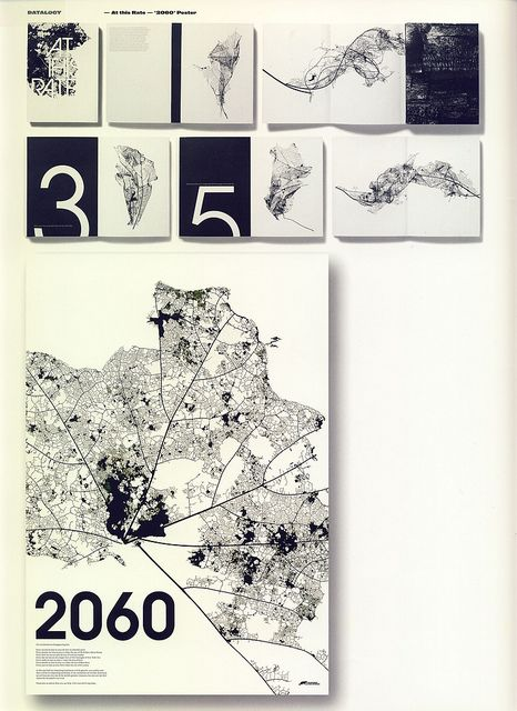 """At This Rate & '2060'Poster by STUDIO 8 DESIGN, Matt Willey & Giles Revell: Urban map metaphors the decaying of our nature"""