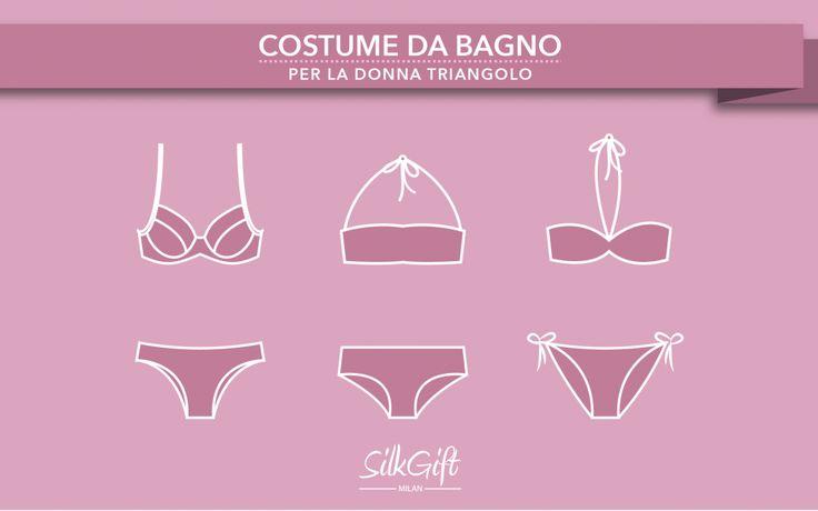 A seconda del proprio corpo esistono costumi che snelliscono e risaltano le forme in base alla conformazione. Silk Gift Milan ci parla della scelta del costume da bagno per la donna triangolo su http://www.stilefemminile.it/costume-da-bagno-donna-triangolo/