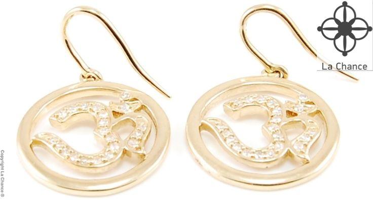 AUM Earrings AUM by La Chance handmade 14kt gold diamond earrings - www.lachance.dk