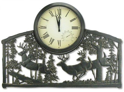 Whitetail Deer Bucks Outdoor Clock