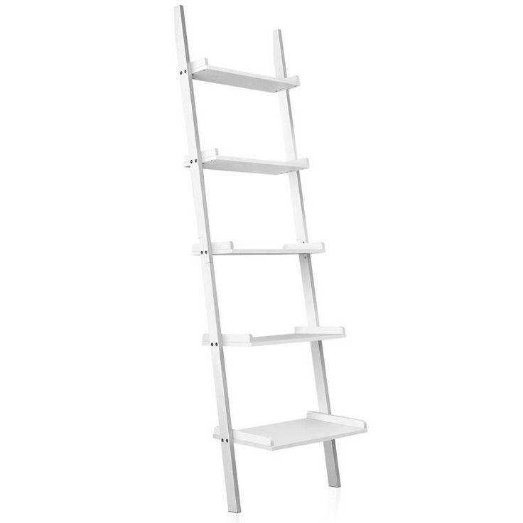 5 Tier Wall Ladder Shelf White FURNI-F-LAD432-WH  #buyonline #shippedfromaustralia #ampled #buynow #wevegotample #buyproductsnow