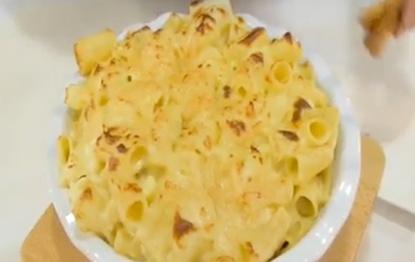Rigatoni Cauliflower Cheese with Tomato and Basil