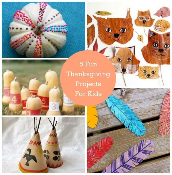 5 Fun Thanksgiving Projects for Kids On Paint Me Plaid