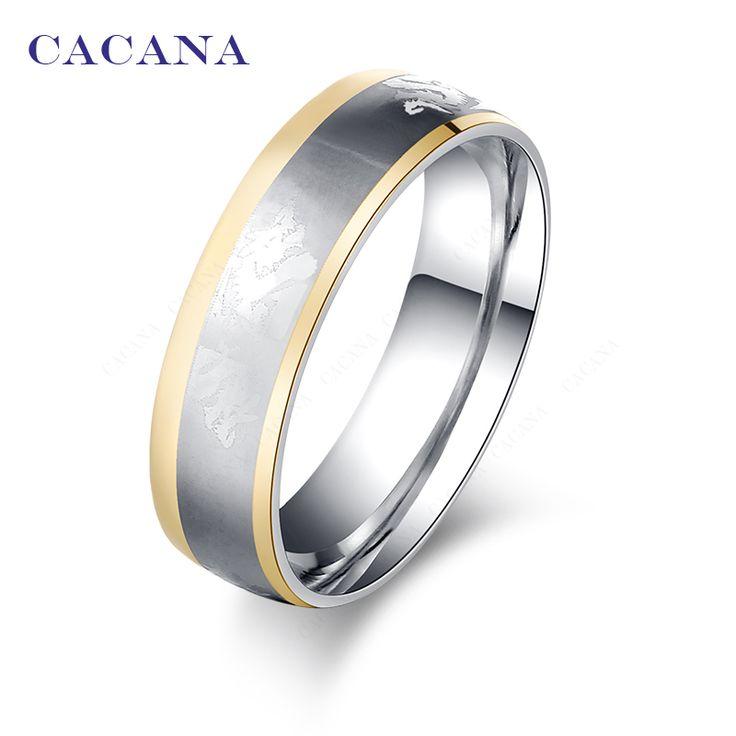 Cacanaステンレス鋼リング用女性ゴールドメッキでドラゴン上それファッションジュエリー卸売no. r5