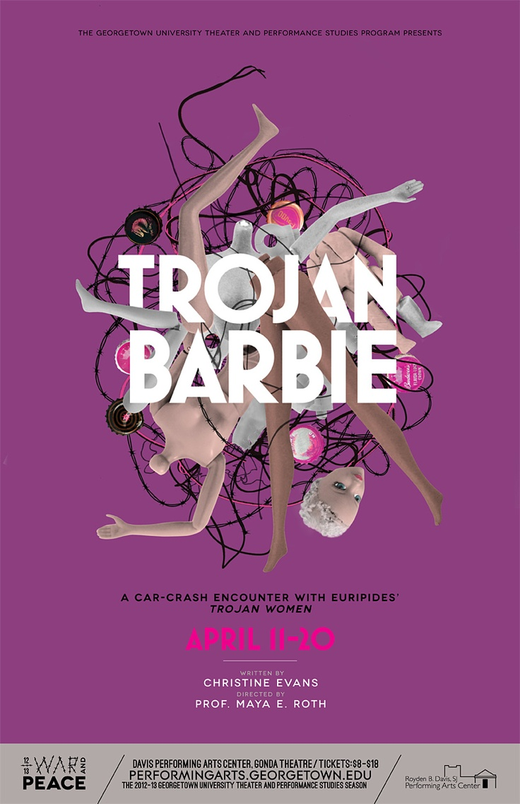 Poster design software for windows 8 1 - Design Army Trojan Barbie Poster And Illustration Design Army Llc
