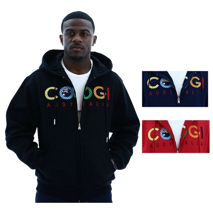 Coogi Men's Zip Up Hoodie Hooded Jacket - 32 Best Clothes RocaWear, Coogi, Play Clothes Images On Pinterest
